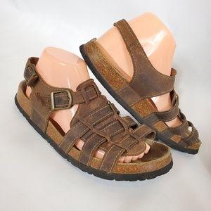Birkenstock leather Sandals with heel starps